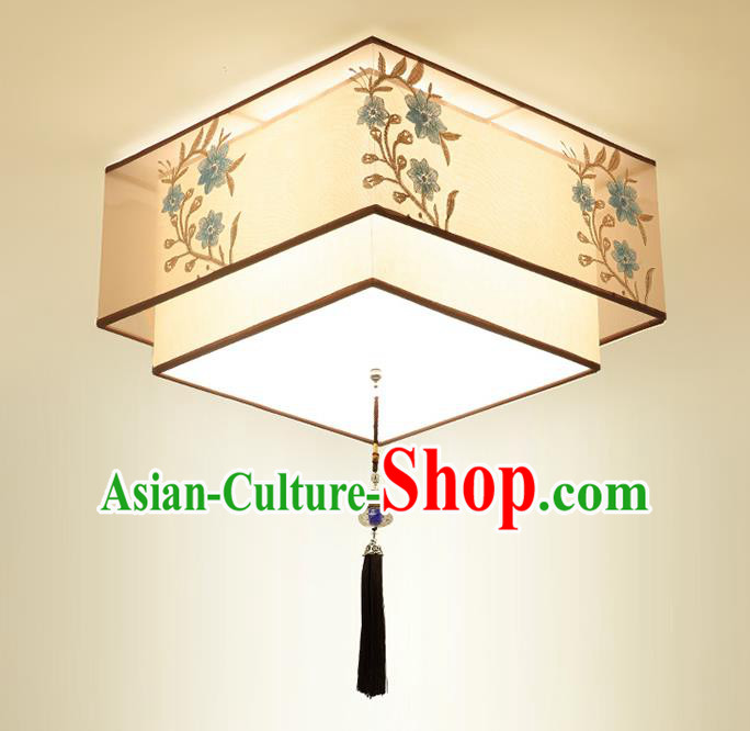 Traditional China Handmade Square Lantern Ancient Lanterns Palace Ceiling Lamp