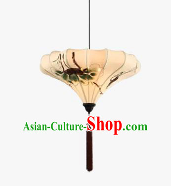 China Handmade Ink Painting Ceiling Lantern Traditional Ancient Hanging Lamp Palace Lanterns