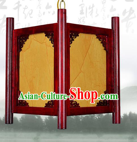 Chinese Handmade Palace Wood Lantern Traditional Parchment Hanging Lantern Ceiling Lamp Ancient Lanterns