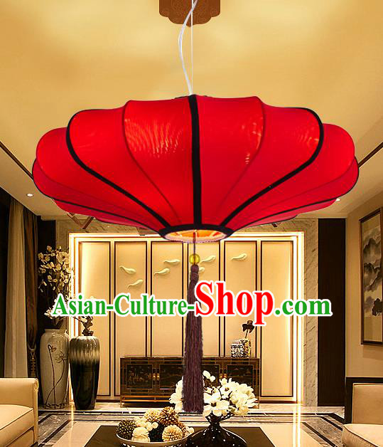 Chinese Classical Handmade Red Palace Lanterns Traditional Hanging Lantern Ancient Ceiling Lamp