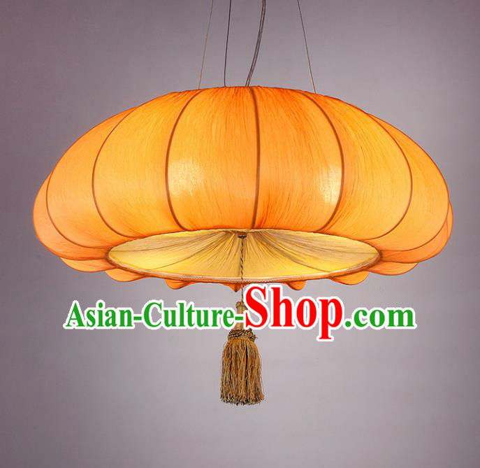 Chinese Classical Handmade Pumpkin Palace Lanterns Traditional Hanging Lantern Ancient Ceiling Lamp