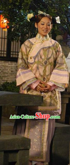 Chinese Ancient Qing Dynasty Courtesan Li Xiangjun Historical Costume for Women