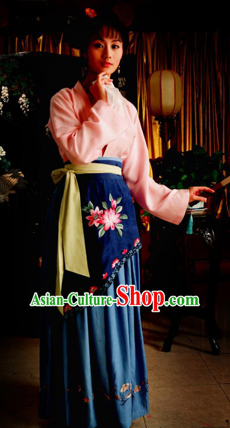 Chinese Ancient Novel Dream of the Red Chamber Third Sister You Costume for Women