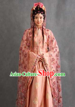 Chinese Ancient Novel Character A Dream in Red Mansions Nobility Lady Xue Baoqin Costume for Women
