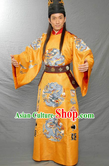 Ancient Chinese Ming Dynasty Historical Costume Female Embroider Deep Blue Replica Costume for Women