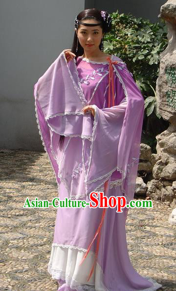 Chinese Ancient Ming Dynasty Qinhuai Courtesan Li Shiniang Embroidered Dress Costume for Women
