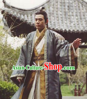 Chinese Ancient Song Dynasty Royal Highness Eight Embroidered Replica Costume for Men