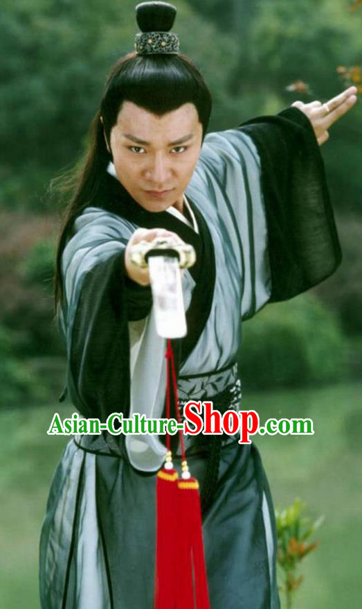 Ancient Chinese Song Dynasty Swordsman Crown Prince Replica Costume for Men