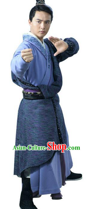 Ancient Chinese Song Dynasty Kawaler Swordsman Embroidered Replica Costume for Men