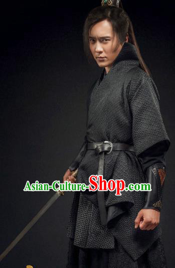 Ancient Chinese Song Dynasty Swordsman Son of Yueh Fei Replica Costume for Men