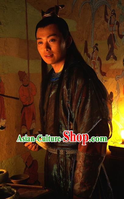 Ancient Chinese Song Dynasty Swordsman Replica Costume Scholar Fang Tianyou Clothing for Men