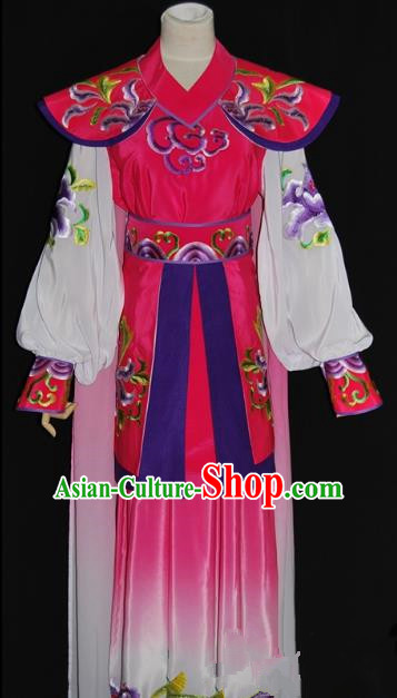 Traditional Chinese Beijing Opera Female Warrior Pink Dress Peking Opera Blues Embroidered Costume