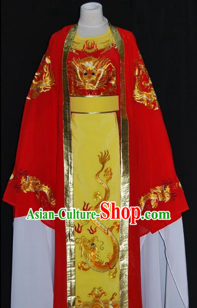 Traditional Chinese Beijing Opera Niche Prince Red Robe Costume Peking Opera Young Men Clothing for Adults