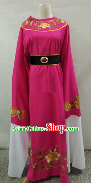 Traditional Chinese Beijing Opera Niche Water Sleeve Rosy Robe Peking Opera Young Men Costume for Adults