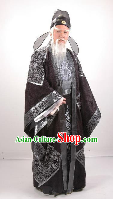 Traditional Chinese Tang Dynasty Prime Minister Guo Ziyi Replica Costume for Men