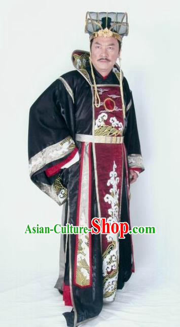 Chinese Ancient Tang Dynasty Royal Highness Li Pu Embroidered Replica Costume for Men
