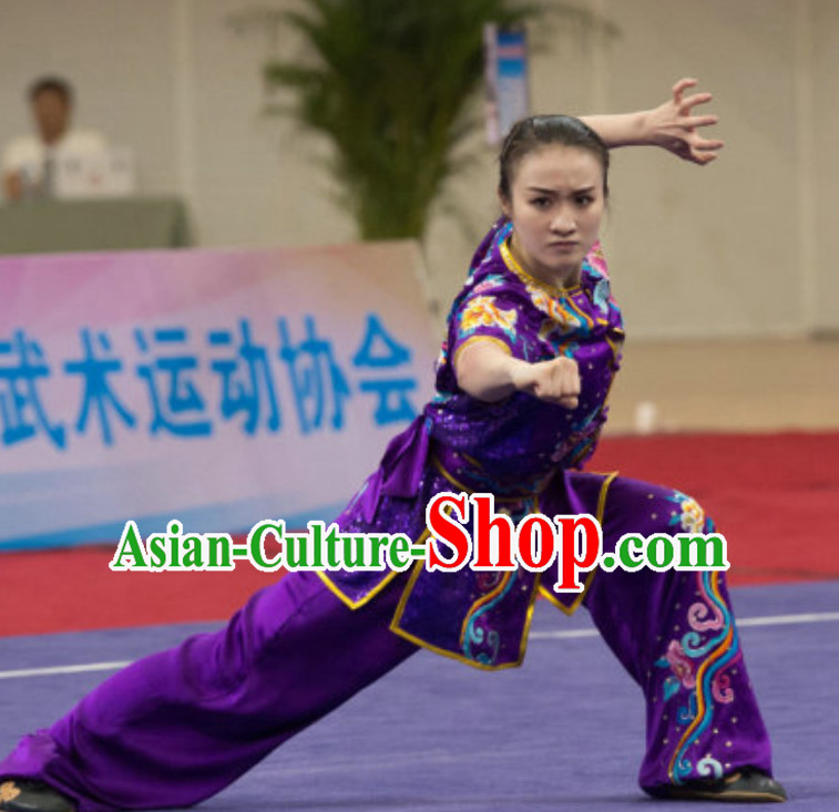 Top Southern Fists Kung Fu Uniforms  Tai Chi Uniforms Martial Arts Blouse Pants Kung Fu Suits Kungfu Outfit Professional Kung Fu Clothing Complete Set for Girls Kids Teenagers