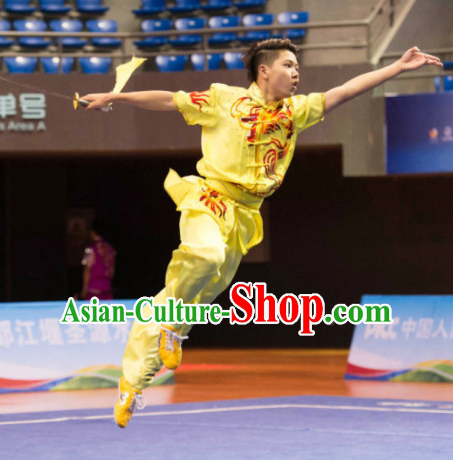 Top Short Sleeves Southern Fist Nanquan Competition Kung Fu Uniforms Tai Chi Uniforms Martial Arts Blouse Pants Kung Fu Suits Kungfu Outfit Professional Kung Fu Clothing