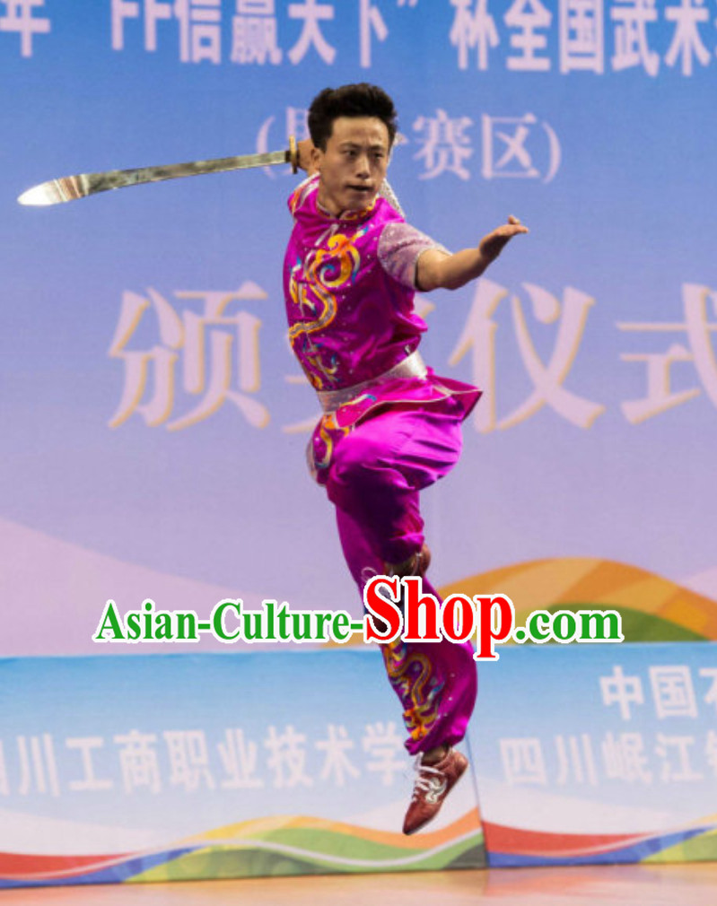 Supreme Short Sleeves Southern Fist Nanquan Competition Kung Fu Uniforms Tai Chi Uniforms Martial Arts Blouse Pants Kung Fu Suits Kungfu Outfit Professional Kung Fu Clothing