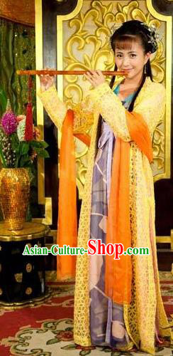 Chinese Ancient Tang Dynasty Geisha Courtesan Dance Dress Historical Costume for Women