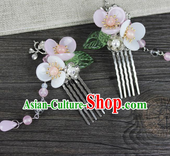 Chinese Ancient Handmade Hair Accessories Flowers Hair Combs Hairpins for Women