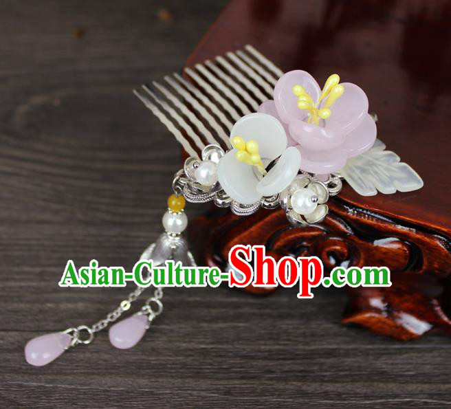 Chinese Ancient Handmade Hair Accessories Flowers Tassel Hair Combs Hairpins for Women