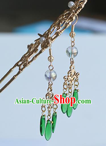 Chinese Handmade Ancient Jewelry Accessories Eardrop Hanfu Tassel Earrings for Women
