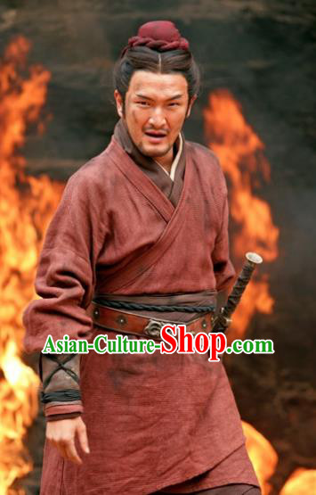 Chinese Ancient Three Kingdoms Period Wu State General Gan Ning Historical Costume for Men