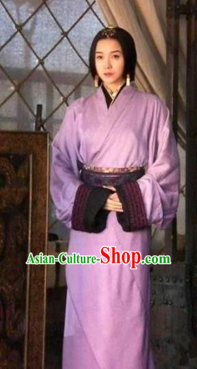 Chinese Ancient Three Kingdoms Period Wei State Imperial Consort Hanfu Dress Replica Costume for Women
