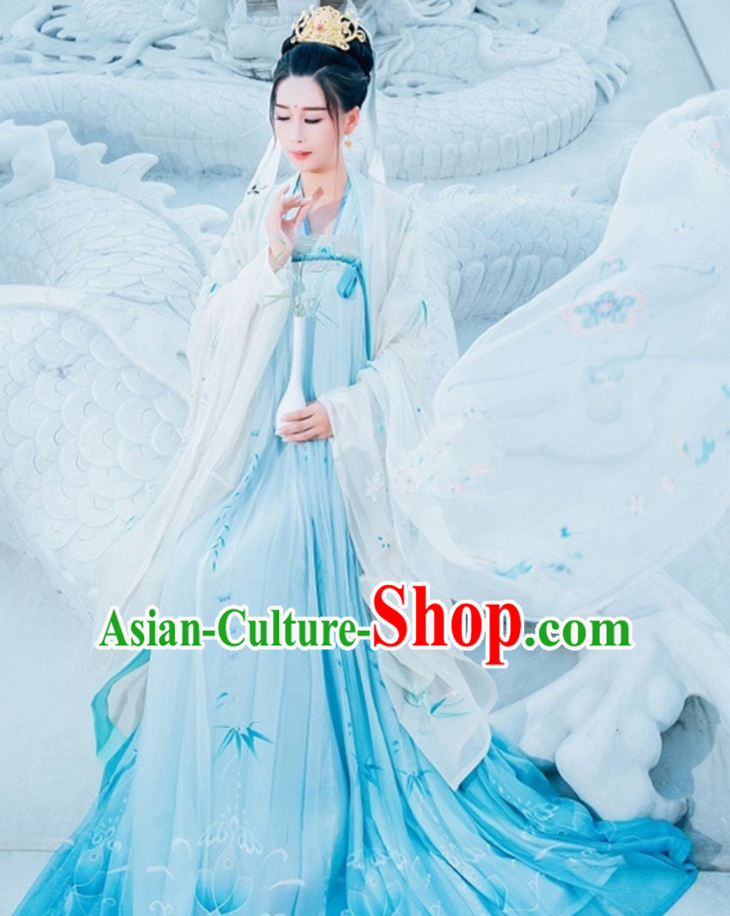 Ancient Chinese Tang Dynasty National Costume Hanfu Dress Clothing  Complete Set for Women Girls