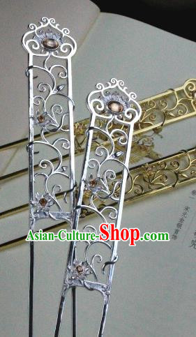 Chinese Handmade Classical Hair Accessories Hairpin Crystal Hair Stick Hanfu Hairpins for Women