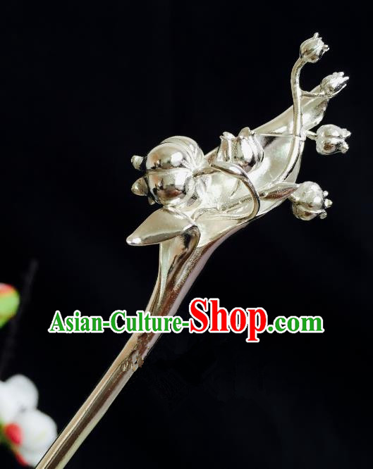 Chinese Handmade Classical Hair Accessories Hairpin Hair Stick Hanfu Argent Hairpins for Women