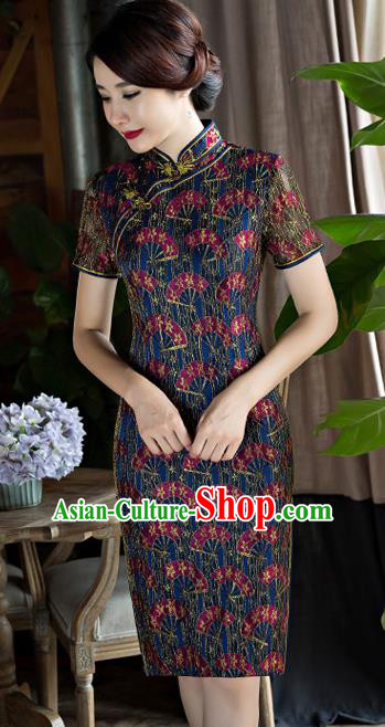Chinese Traditional Tang Suit Qipao Dress National Costume Top Grade Mandarin Cheongsam for Women