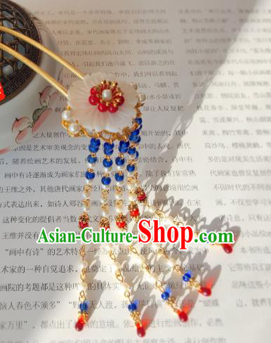 Traditional Chinese Ancient Hair Accessories Hair Clip Tassel Step Shake Hanfu Shell Hairpins for Women
