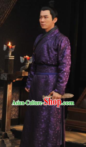 Chinese Tang Dynasty Military Officer Li Mu Replica Costume Ancient Nobility Childe Clothing for Men