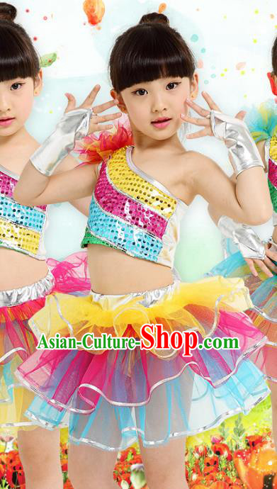 Top Grade Stage Performance Ballet Dance Costume, Professional Classical Dance Bubble Dress for Kids