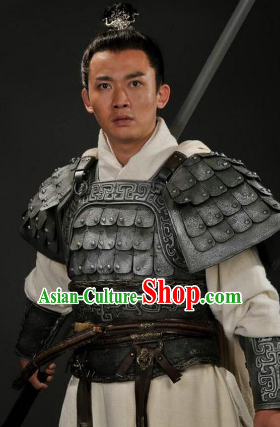 Chinese Ancient Three Kingdoms Period Shu Kingdom General Zhao Yun Replica Costume for Men