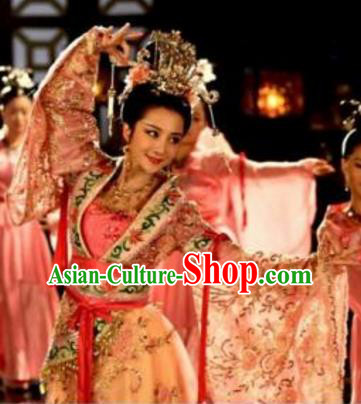 Chinese Ancient Three Kingdoms Period Empress Zhen Fu Hanfu Dress Replica Costume for Women