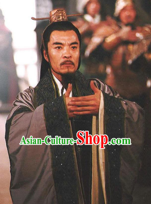 Chinese Ancient Qin Dynasty Politician Prime Minister Li Si Replica Costume for Men