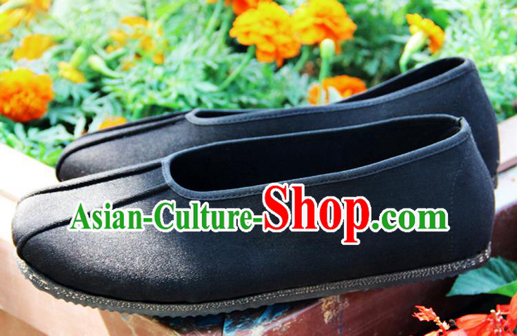 Chinese Traditional Handmade Monk Cloth Shoes Martial Arts Shoes Kung Fu Shoes for Men