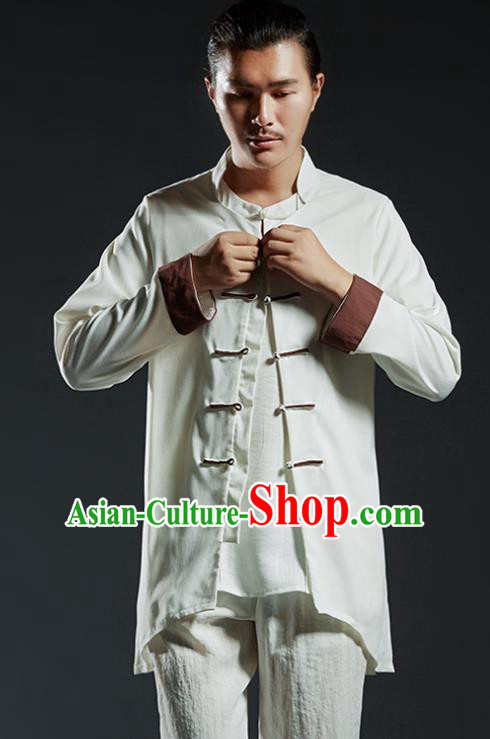 d3496c8f7 Chinese Kung Fu Martial Arts Gongfu Costume Tang Suit Jacket Wushu Tai Chi  Clothing for Men