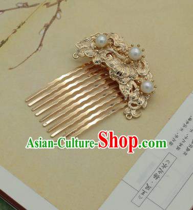 Traditional Chinese Ancient Pearls Hair Comb Classical Hair Accessories Handmade Hairpins for Women