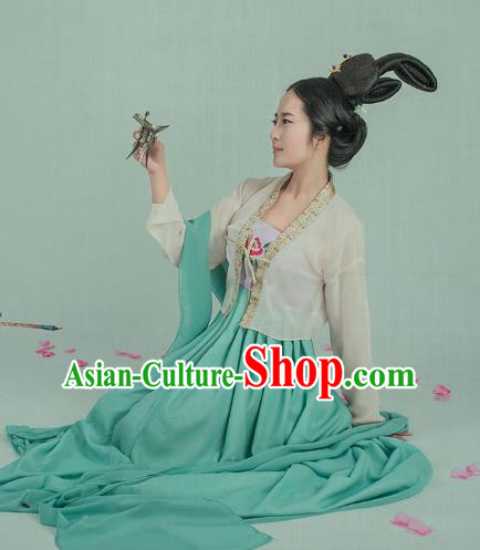 6c0d2cfde Traditional Chinese Ancient Palace Lady Costume, China Tang Dynasty Court  Maid Clothing for Women