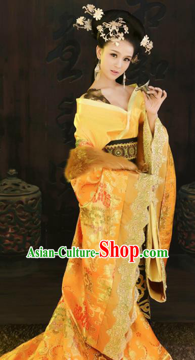 Chinese Ancient Imperial Consort Embroidered Hanfu Dress Tang Dynasty Palace Lady Replica Costume for Women