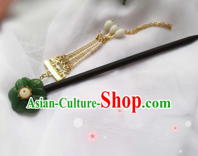 Chinese Traditional Ancient Hair Accessories Classical Wood Hair Clip Hanfu Hairpins for Women