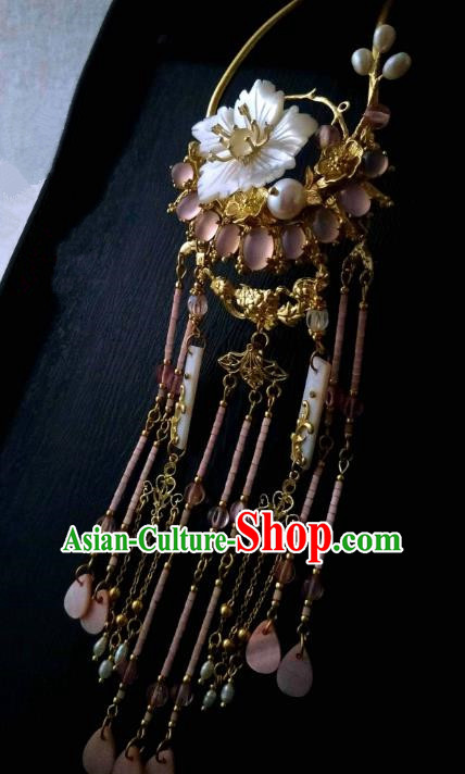 Chinese Traditional Ancient Hair Accessories Tassel Step Shake Classical Hair Clip Hanfu Hairpins for Women