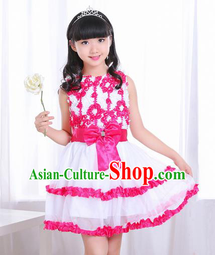 Top Grade Chorus Costumes Stage Performance Bubble Dress Children Modern Dance Clothing for Kids