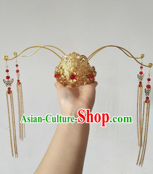 China Ancient Hair Accessories Hanfu Princess Golden Phoenix Coronet Chinese Classical Hairpins for Women