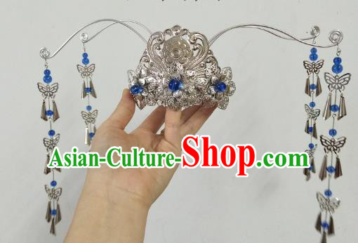 China Ancient Hair Accessories Hanfu Princess Argent Phoenix Coronet Chinese Classical Hairpins for Women