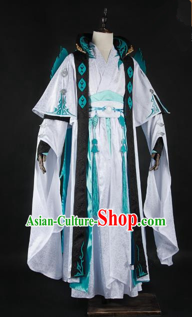 China Traditional Cosplay Royal Highness Swordsman Costumes Chinese Ancient Kawaler Knight-errant Clothing for Men
